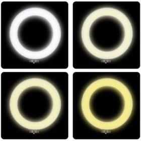 Варианты теплоты освещения кольцевой лампы