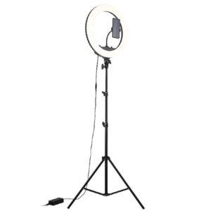 Кольцевая лампа димером 43 см светодиодная