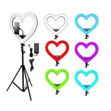 Кольцевая лампа сердце разные цвета RGB
