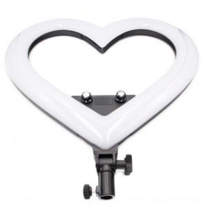 Светодиодная кольцевая лампа Сердце 48 см яркая