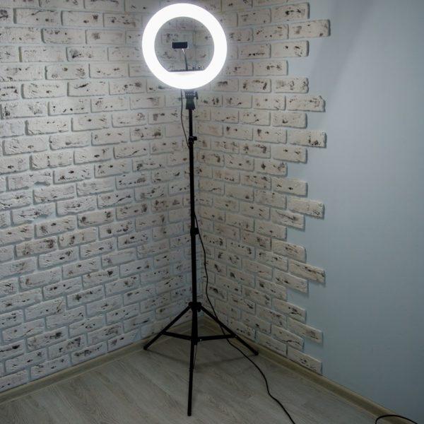 Светодиодная кольцевая лампа белого 36 см