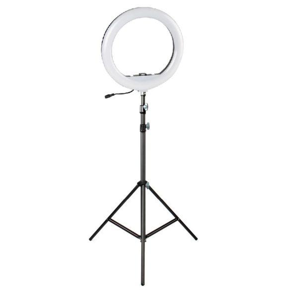 Светодиодная кольцевая лампа 30 см со штативом