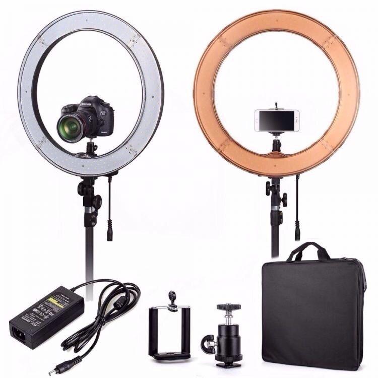 Светодиодная кольцевая лампа 48 см с фильтрами и сумкой