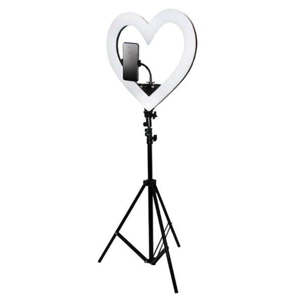 Фото диодная кольцева лампа 48 см сердце