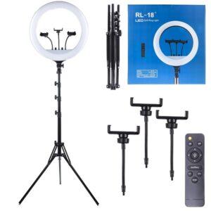 Кольцевая лампа 45 см, 55 ватт, RL-18 в синей коробке