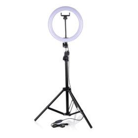 Кольцевой свет 30 см для съемки с телефона на штативе