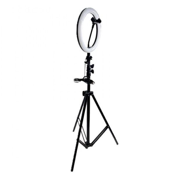 Лампа на штативе кольцевая 30 см с держателем