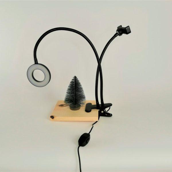 Кольцевая лампа на прищепке 9 см