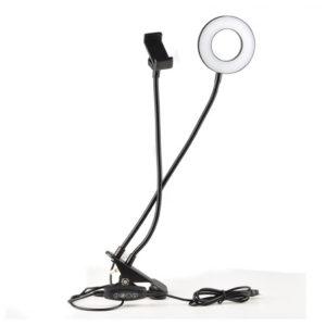Сэлфи лампа для стола с держателем смартфона