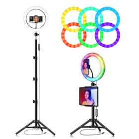 Кольцевая лампа 26 см RGB многоцветная