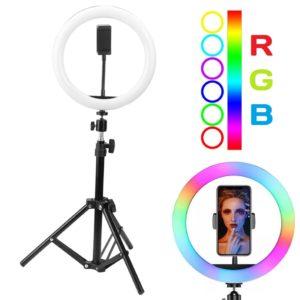 Кольцевая лампа 33 см разноцветная RGB