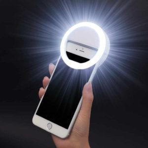 Сэлфи лампа для подсветки камеры смартфона