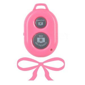 Сэлфи пульт для смартфона розового цвета