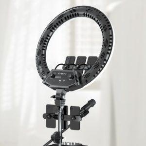 Кольцевая лампа 56 см KY-BK512 с пультом и сумкой
