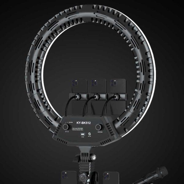 Кольцевая лампа 56 см KY-BK512_0001_Професииональная кольцевая лампа 56 см 78 Ватт