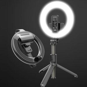 Кольцевая лампа-сэлфи палка настольная Л07