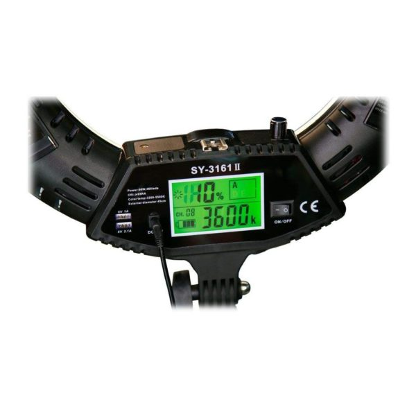 Кольцевая лампа SY-3161 III с экраном и регулировкой