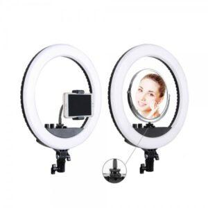 Кольцевая светодиодная лампа с зеркалом 34,5 см RL-12 II премиум