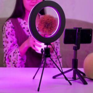 Кольцевая диодная лампа RGB мультиколор MJ26