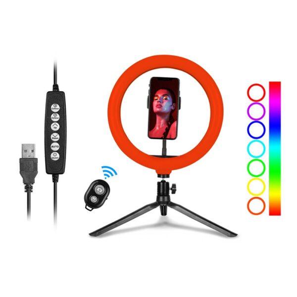 Кольцевая лампа 26 см RGB купить MJ 26 разноцветная