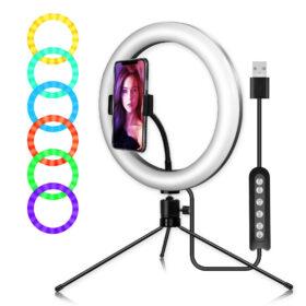 Кольцевая лампа MJ 33 Настольная RGB разноцветная