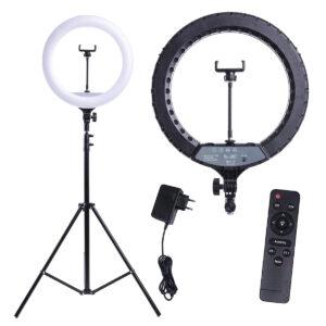 Кольцевая лампа YQ-360B 36 см 30 Ватт с пультом ДУ