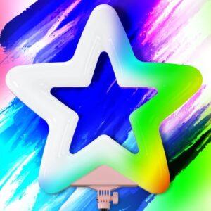 Кольцевая лампа звезда RK-52 RGB разноцветная