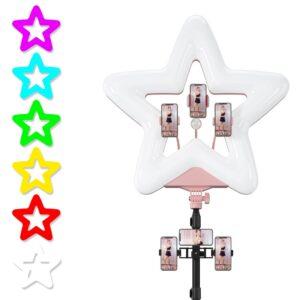 Кольцевая лампа звезда RK-52 RGB с 5 режимами мультиколор