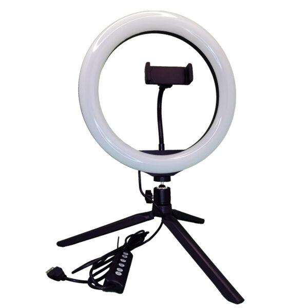 Настольная-SL-R26-RGB-кольцевая-лампа-мультиколор-вид-спереди