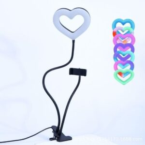 Кольцевая лампа Мини-Сердце RGB много режимов