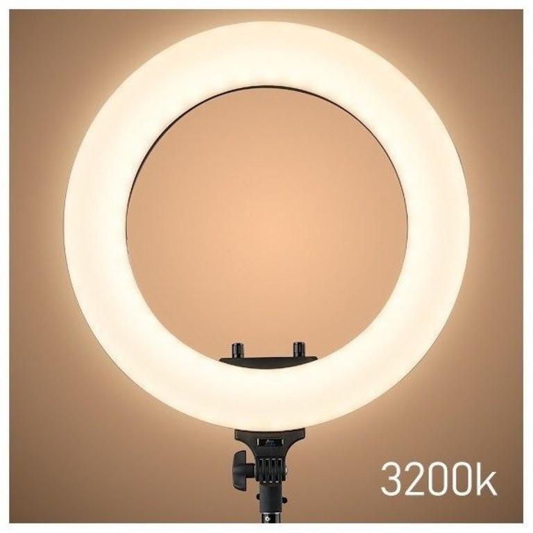 Кольцевая лампа с регулировкой теплый свет 43 см